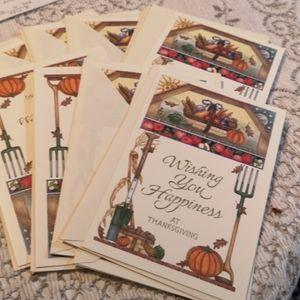 Set of 13 Thanksgiving Wishes Cards